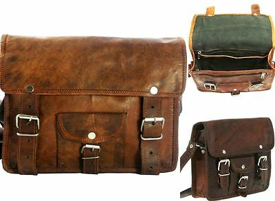 Motorcycle 1 Side Pouch Brown Leather Side Pouch bag Saddle Panniers Motorcycle