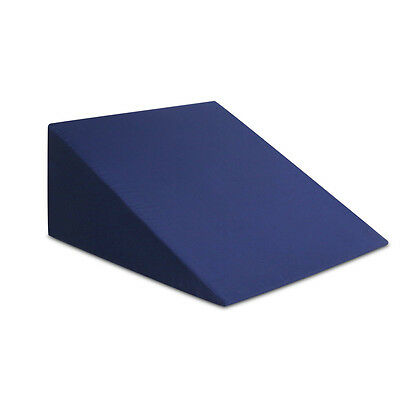 Memory Foam Bed Wedge Pillow Cushion Neck Back Support Rest  Sleep Blue