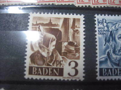 Timbre Allemagne Bade Baden Neuf** 3 Pf Bodensee