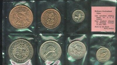 New Zealand 1965 Uncirculated Mint set  Last Year