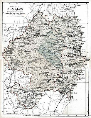 Map of County Wicklow, dated 1897.