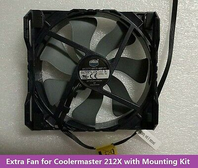 Extra Second 120mm Fan With Mounting Kit for Coolermaster Hyper 212X CPU Cooler