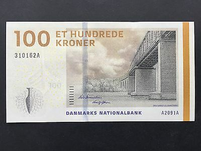 Denmark 100 Kroner P66a Dated 2009 Uncirculated UNC