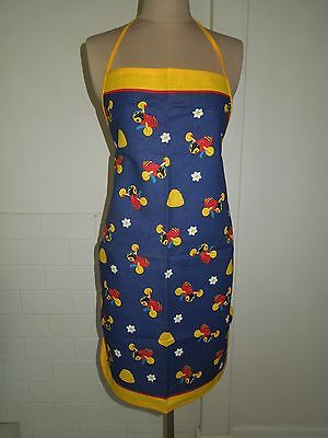 Buzzy Bee Apron, Derek Of New Zealand, Linen Cotton, New Without Tags!