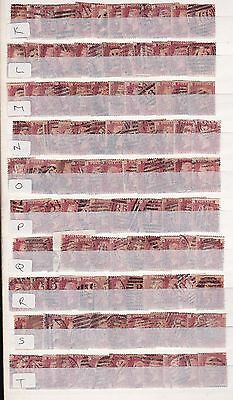 SG 43 penny red plate 138 full reconstruction of 240 stamps AA to TL