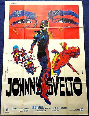 Manifesto Poster Movie Cinema Johnny Svelto Blaxploitation Moto Diabolik 4Fg Saf