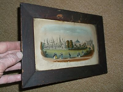 Rare Antique 18Th C Framed Coloured Engraving Of The Royal Pavilion Brighton