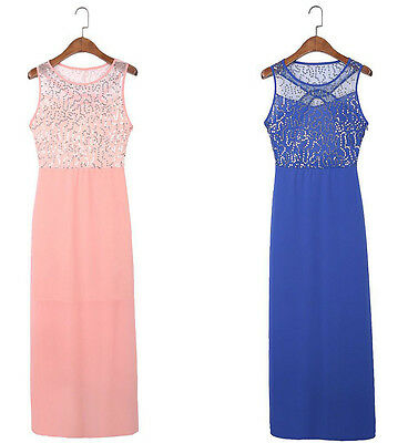 Women Chiffon Bridesmaid Formal Evening Party Long Ball Prom Gown Cocktail Dress