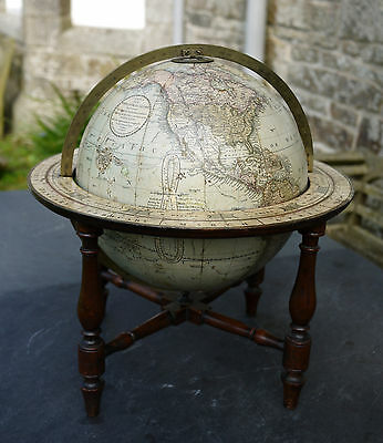 A Fine Antique 12 Inch Diameter Terrestrial Table Globe By G & J Cary Dated 1841