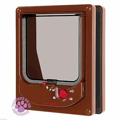 Pet Mate Electomagnetic Cat Flap Brown 254 W