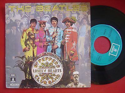THE BEATLES Sgt peppers lonely / within you without you SPANISH 45 ODEON 1978