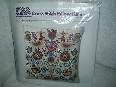 Vtg Columbia Minerva Country Folk Art PILLOW KIT 6763 Margot Johnson 1977 New