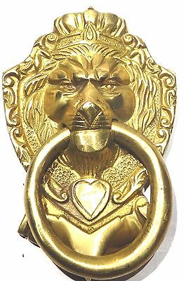 Big Lion Golden Vintage Antique Handmade Solid Brass Door Knocker Home Decor