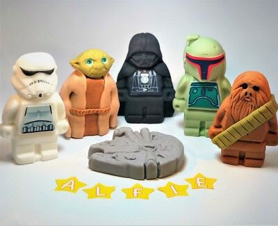 STAR WARS cake toppers edible decoration personalised birthday unofficial