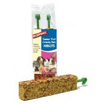 Mr Johnsons Summer Fruit Bars 2 Pack x 1 Small animal treat food chew rabbit
