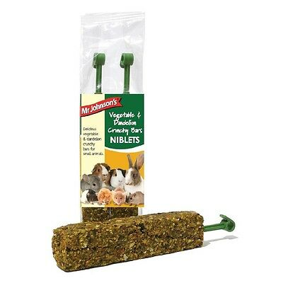 Mr Johnsons Veg & Dandelion Bars 2 Pack x 2 Small animal treat food chew rabbit