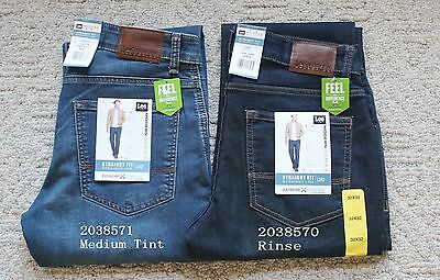 cd19a326 NWT Lee Men's Straight Fit Straight Leg Modern Jeans Extreme Comfort Flex  Denim