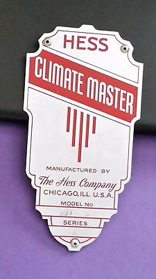 The Hess Company Climate Master Metal Manufacturing Badge