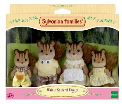 NEW Sylvanian Families Walnut Squirrel Family from Purple Turtle Toys