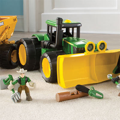 NEW John Deere Gear Force Earth Moving Tractor from Purple Turtle Toys