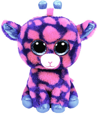 NEW Sky High the Pink Giraffe (Medium) - TY Beanie Boos from Purple Turtle Toys
