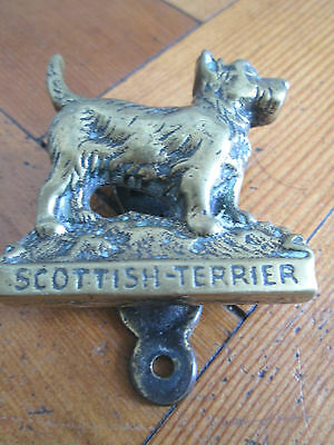 Old brass Scottish Terrier door knocker