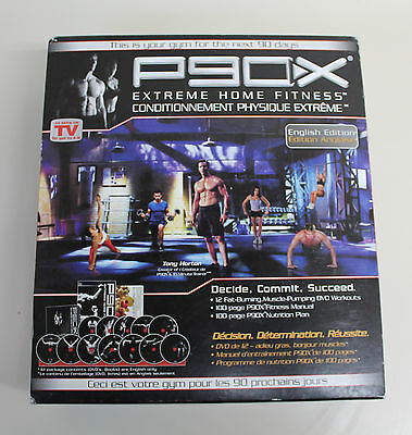 Beachbody P90X Extreme Home Fitness Complete 13 DVD Workout Set + Nutrition Plan