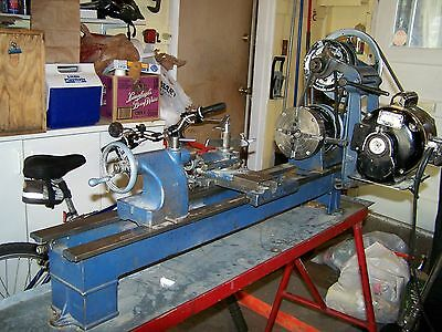 """Vintage Atlas Craftsman  Lathe 9 """" Very Good Condition Everything Moves Smoothly"""