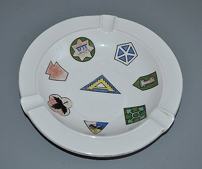 USAREUR US 7th Army Souvenir Ashtray Europe Winterling Germany 1ID 4ID 2AD