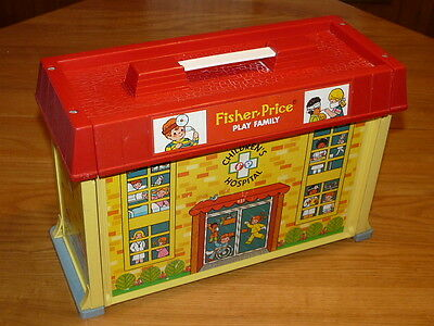 Vintage 1976 Fisher-Price Play Family Children's Hospital #931