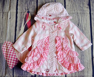 Little Darlings  Baby Girls Designer Romany Hooded Summer Coat 1 Year