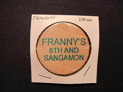 Springfield, Illinois Wooden Nickel token - Franny's Wooden Nickel Drink Coin