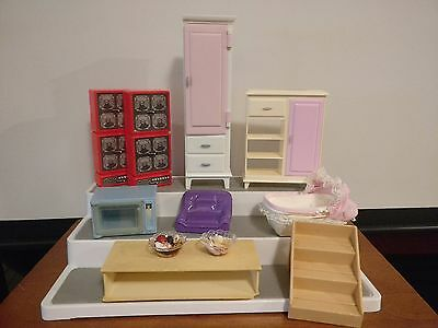 Mixed Lot Vintage Dollhouse Barbie / Kelly Furniture Susy Goose Playskool Mattel