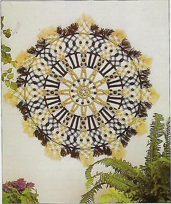 Vtg 1970s Sunburst Wall Hanging Art Pattern Macrame A Designers Collection Book