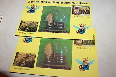 Nickerson Bee Farm Omaha Nebraska NE Jumbo Vintage Postcard lot of 2