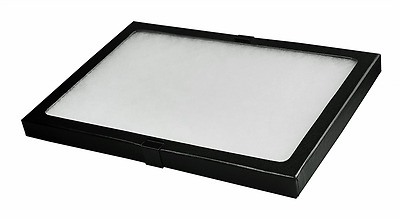 Display Glass Case Box With Metal Clips 8x12x.75 Shadow Collection Foam Jewelry