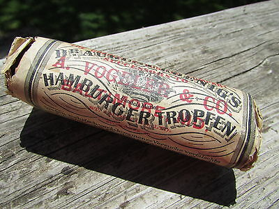 A VOGELER & CO 1890s HAMBURGER TROPFEN Sealed QUACK Med BOTTLE Unopened CONDTN