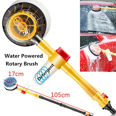 High Pressure Car Wash Brush Rotating Sponge Extendable Hose Car Cleaning Tool