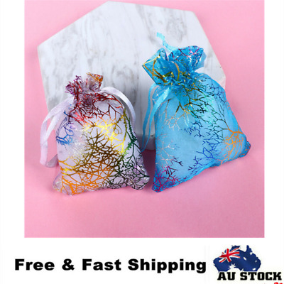 50pcs Organza Bags Wedding Gift Bag Jewellery Packing Pouch Bags 10x12cm
