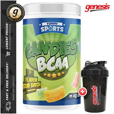Yummy Sports Candies BCAA's - Branch Chain Amino Acids DOMs Recovery - FREE Gift