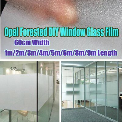 60cm Home Decoration Privacy Frosted Frosting Removable Window Glass Film