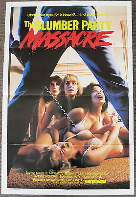 SLUMBER PARTY MASSACRE (1982) Rare Original Australian One Sheet Movie Poster