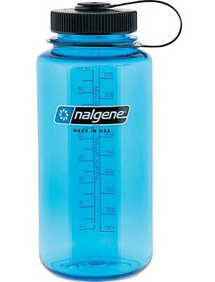 Nalgene Tritan Wide Mouth 1 Litre Water Bottle - Blue/Black