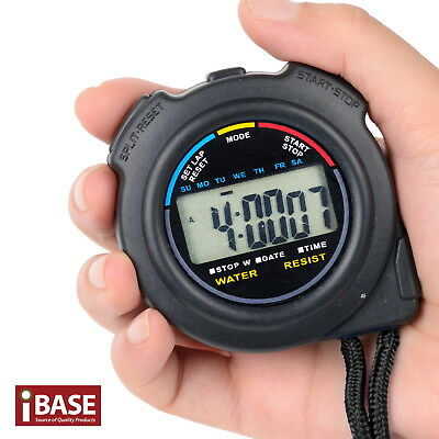 Handheld Stopwatch Digital Chronograph Sport Counter Timer Stop Watch Waterproof