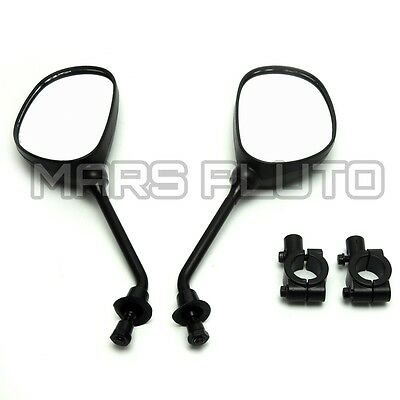 1 Pair Angled Motorcycle Rearview Mirrors Universal 8mm Thread Bike Motobike