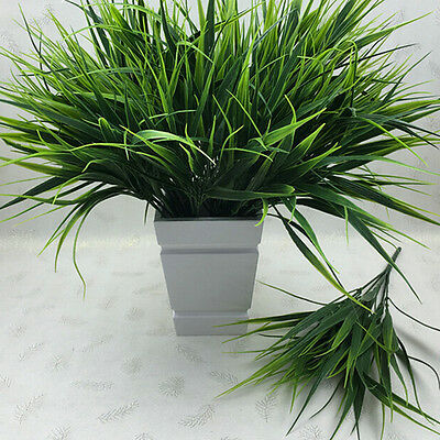 Artificia Plastic Green Grass Plant Flowers Office Home Garden Decoration Decor