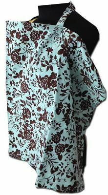 Palm & Pond Lightweight Breastfeeding Nursing Cover Turquoise Floral Pattern