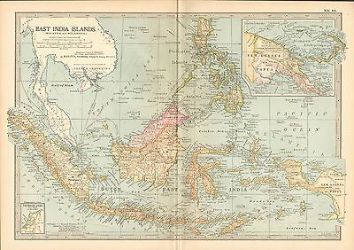 1903 Britannica Antique Map-East India Islands (Malaysia And Melanesia)