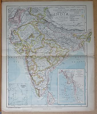 1883  Antique Map General Map Of India
