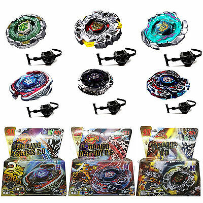 Kids Beyblade Set Fusion Metal Fight Master 4D Top Rapidity Launcher Gift Toys